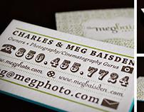 Meg Baisden business cards