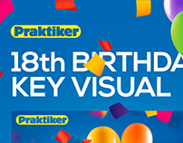 Praktiker - 18th birthday - Key Visual