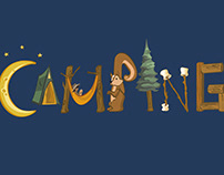 "Illustrated Type-""Camping"""