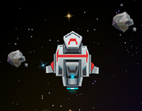 Space game art/ui style