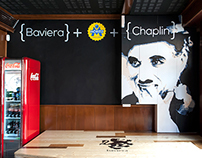 "MURAL ""Baviera + Moritz + Chaplin"""