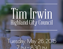 Tim Irwin–Highland City Council