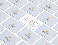Nivesh Group Logo Branding Business Card Graphics Art