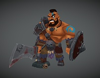 Hand-painted Barbarian