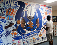Colts 2016 Schedule Wall Mural