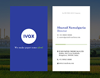 IVAX Business Card Design