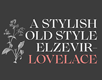 Lovelace Typeface Family with two completely free fonts