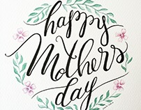 Happy Mothers Day Lettering & Video