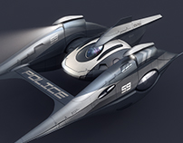 Spaceship concept design - police vehicle