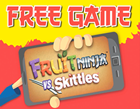 Skittles VS Fruit Ninja Till Display Video