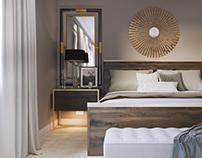 Propunere amenajare dormitor casa K&M Solana Beach, CA