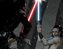 Rey vs. Vader on Starkiller Base