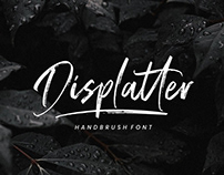 Displatter Natural Handbrush Script Font Free Download