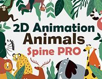2D Animation Animals Spine PRO
