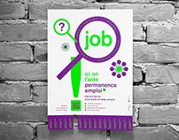 permanence emploi - job - poster