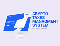 Landing Page Design || Crypto Taxes Managment System
