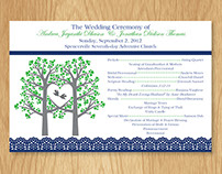 Wedding Program Sheet