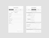iOS Register Screens