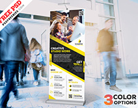 Corporate Roll Up Banner Free PSD Set