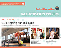 Recreation Activities Preview, Fall 2016