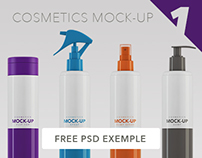 Cosmetics Packaging Mock-up / 300ml - 350ml