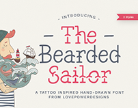 The Bearded Sailor - Tattoo Font