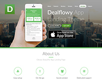 Dealflowy App Landing Page design