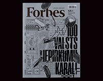 Cover design for Forbes Latvia