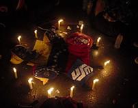 Vigilia en plaza Bolívar de Chacao 29/30 de abril