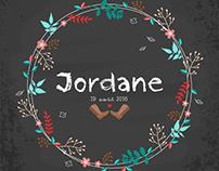 Jordane (Faire-part de naissance)