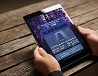 Cartel electrónico para taller de meditación - DAESP SC