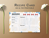 Free Decorative Pattern Recipe Card Template