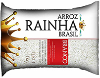 Packaging design for the REHINA rice brand