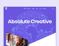 creative studio UI Design
