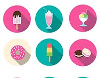 Flat design sweets