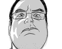 Quick self-caricature