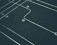 Crop circles on sidewalk NYC