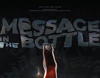 "Craft beer label design ""MESSAGE in the BOTTLE"""