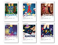Product illustrations HestySocks