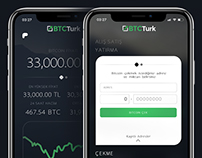 BTCTurk Bitcoin Exchange iPhone X Mobile App Concept
