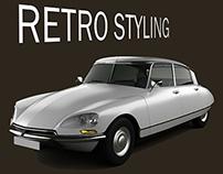 Retro Style Citroen Ds 1955