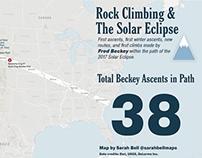 Rock Climbing Map & Solar Eclipse