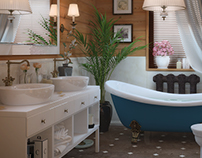 Bathrooms in the cottage