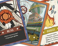 Orange Quest cards making of.