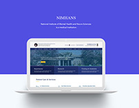 NIMHANS website Redesign. UI/UX