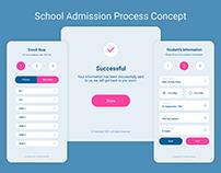 School Admission Process Concept