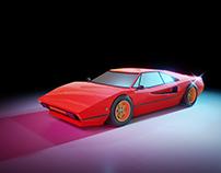 80's Ferrari Lowpoly