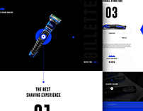 Landing page Design for Gillette Fusion ProGlide