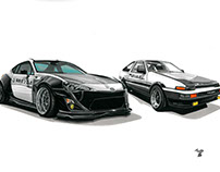 My vision of how initial D car might look like today.