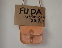 Handmade leather messenger bag for women